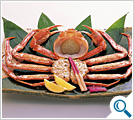 Roasted whole queen crab