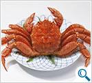 Boiled whole hairedy crab