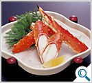Vinegared king crab